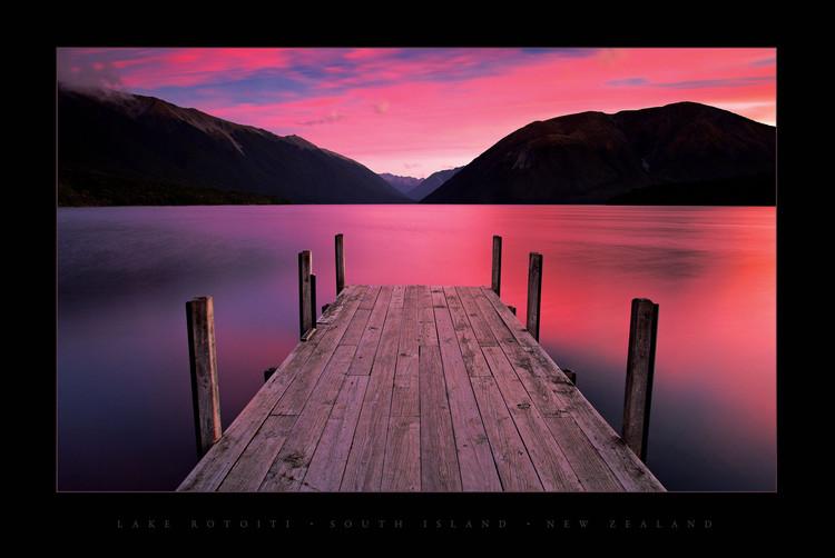 Plagát Lake Rotoiti - New Zealand
