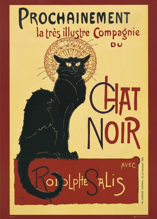 Plagát Le Chat noir – steinlein