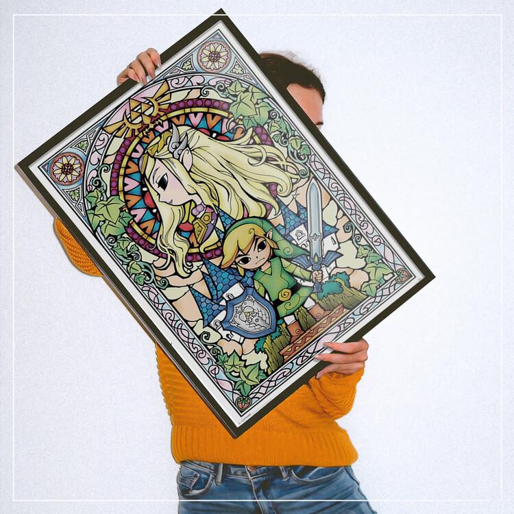 Plagát Legend Of Zelda - Stained Glass