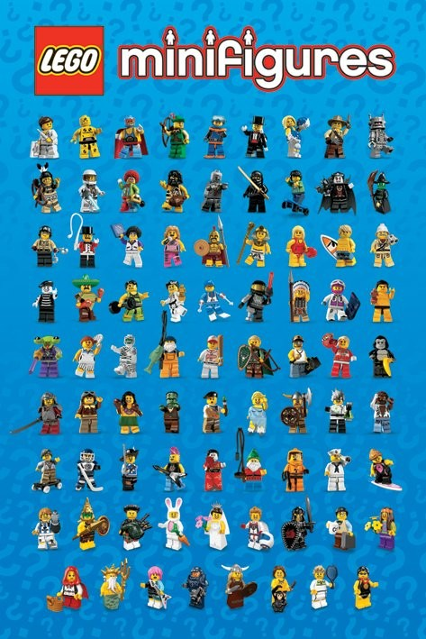 Plagát LEGO - mini figures