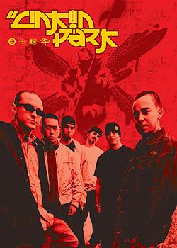 Plagát Linkin Park - group and logo