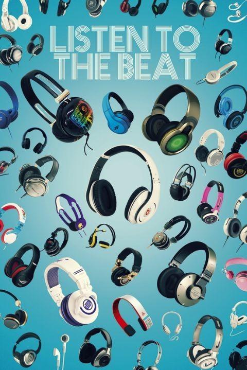 Plagát Listen to the beat