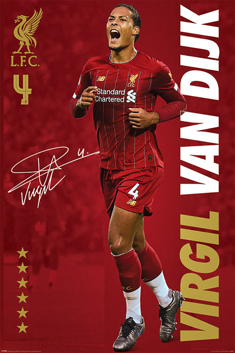 Plagát Liverpool FC - Virgil Van Dijk