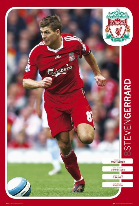 Plagát Liverpool - gerrard 08 09
