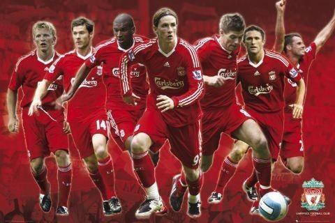 Plagát Liverpool - Players 08/09