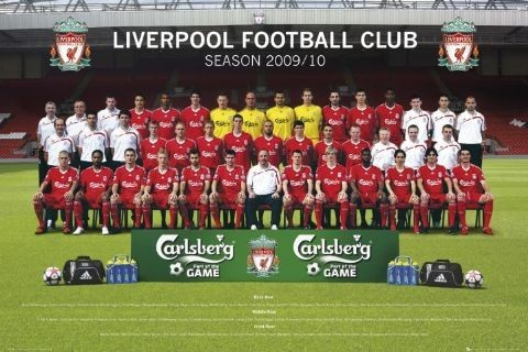 Plagát Liverpool - Team photo 09/10