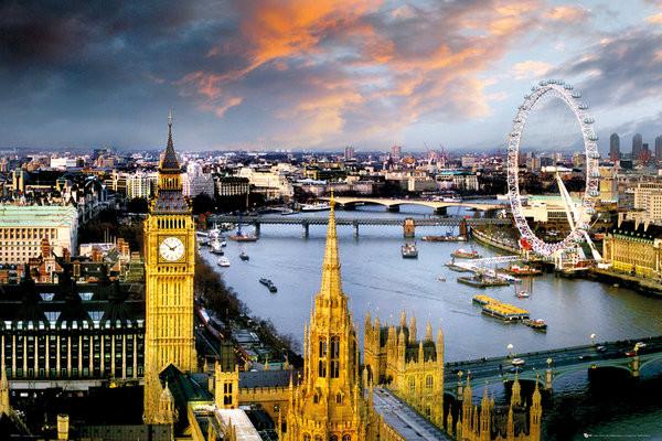 Plagát Londýn - thames