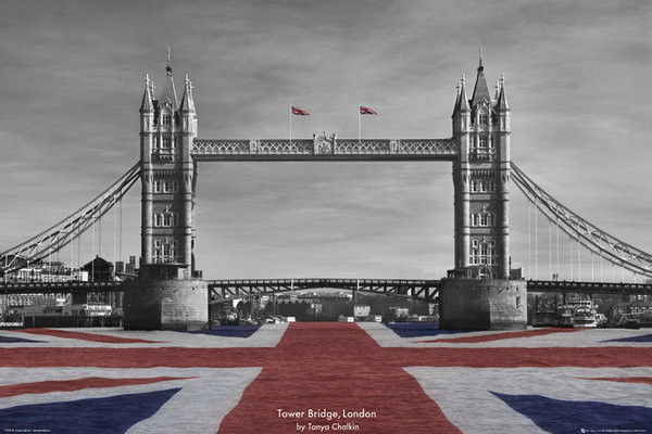 Plagát Londýn - Tower Bridge, Tanya Chalkin