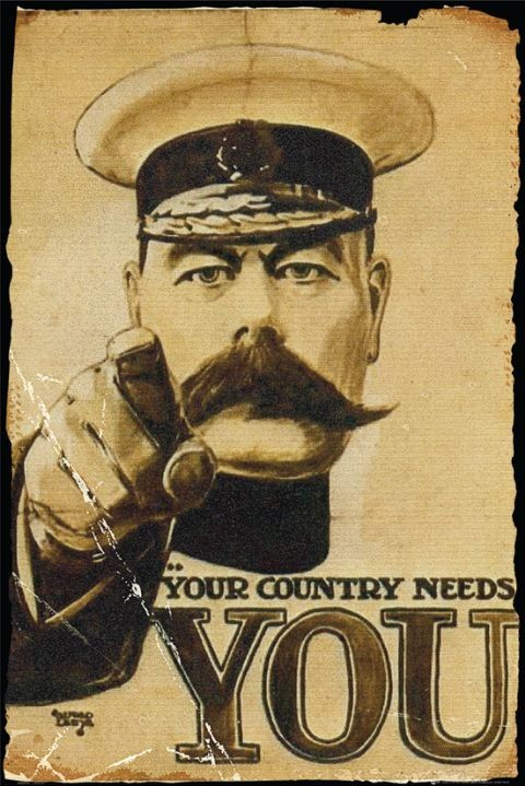 Plagát Lord Kitchener - your country needs you