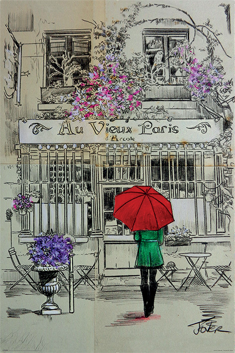 Plagát Loui Jover - Au Vieux Paris
