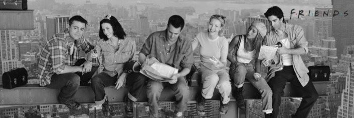 Plagát Lunch on a skyscraper - friends