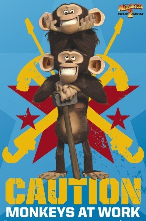 Plagát MADAGASCAR 2 - monkeys