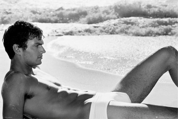 Plagát Male model - beach