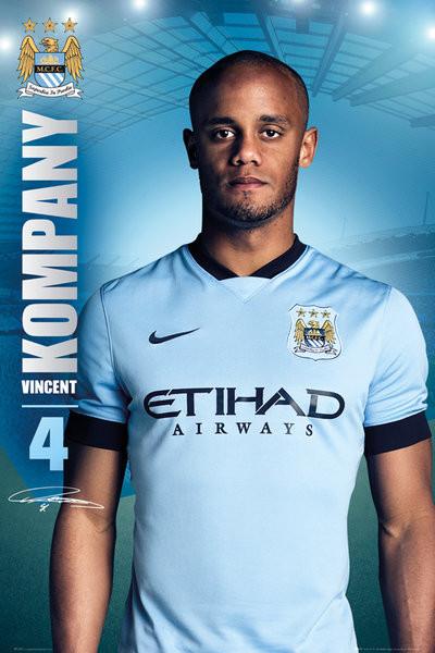 Plagát Manchester City FC - Kompany 14/15