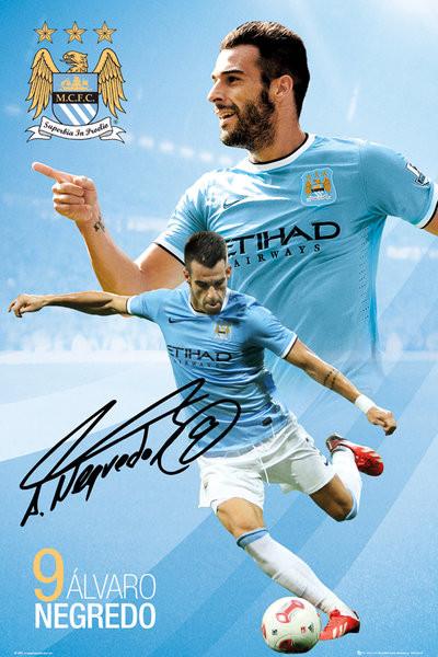 Plagát Manchester City FC - Negredo 13/14