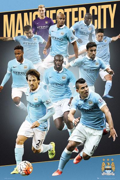 Plagát Manchester City FC - Players 15/16