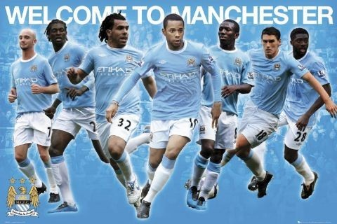Plagát Manchester City - stars 2010