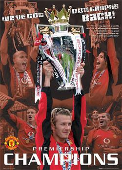 Plagát Manchester United - champions 03