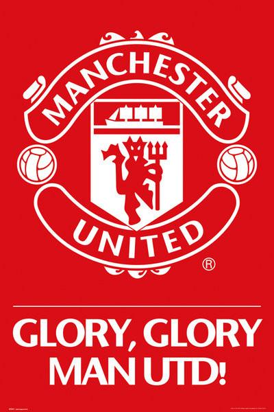 Plagát Manchester United - crest