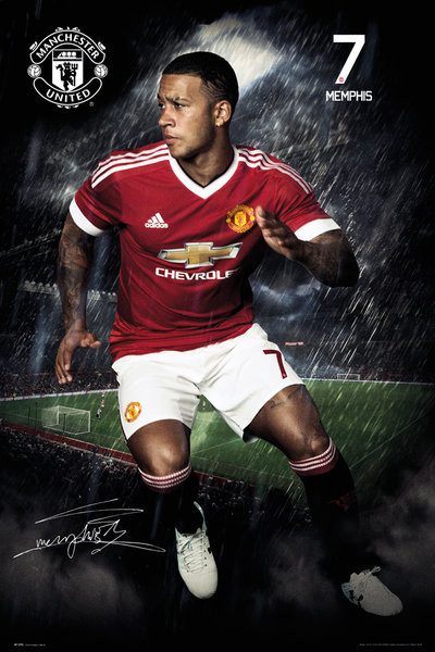 Plagát Manchester United FC - Depay 15/16