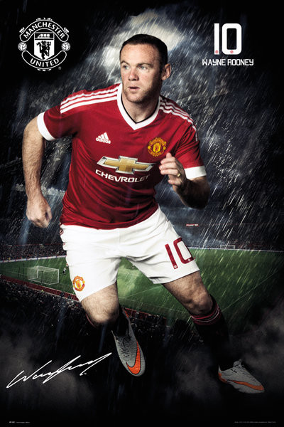 Plagát Manchester United FC - Rooney 15/16