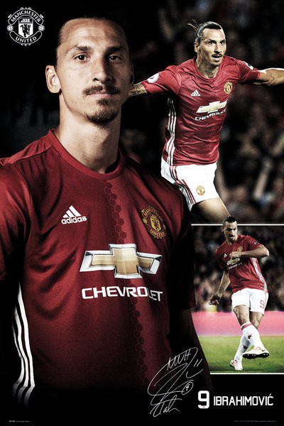 Plagát  Manchester United - Ibrahimovic Collage 16/17