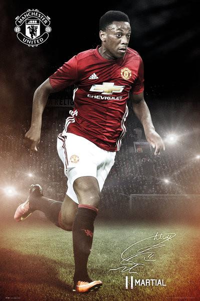 Plagát Manchester United - Martial 16/17