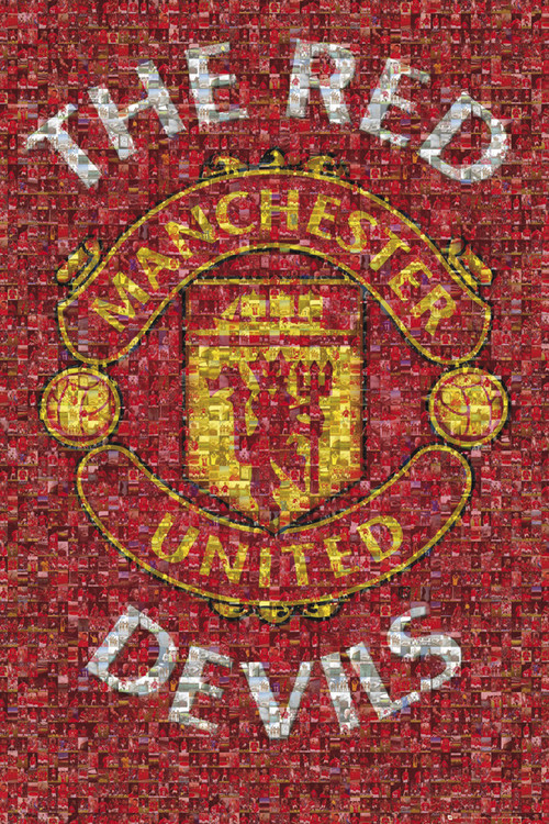 Plagát Manchester United - mosaic