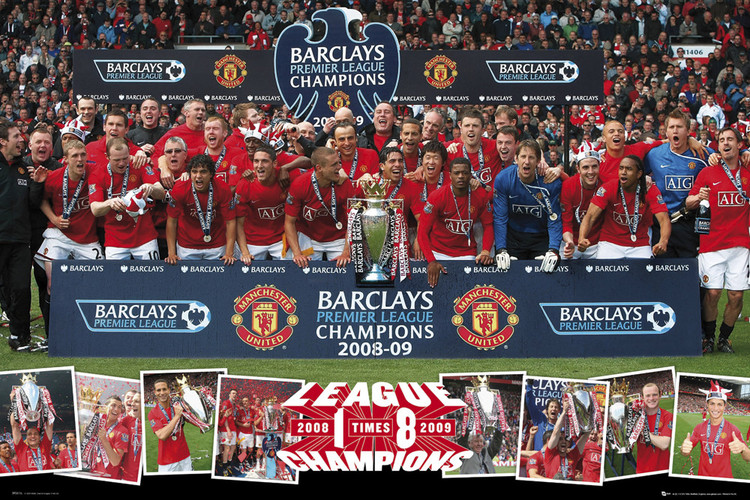 Plagát Manchester United - pl champions 09
