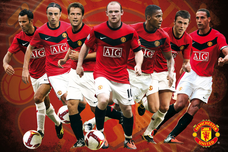 Plagát Manchester United - players 09/10
