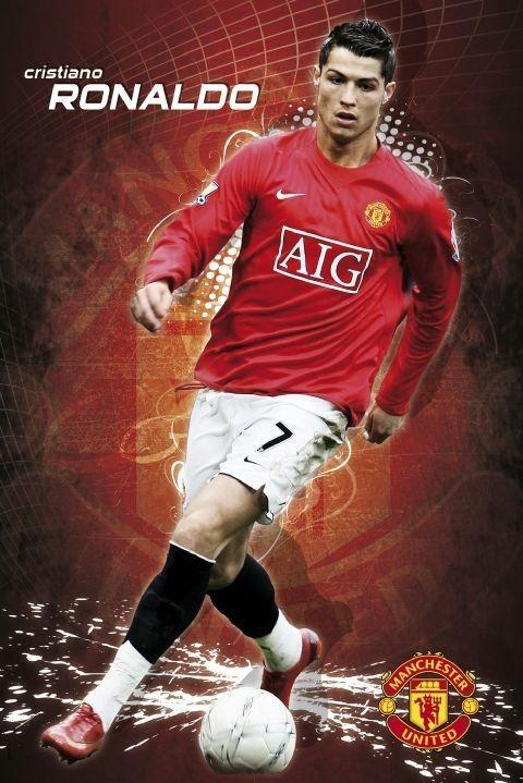 Plagát Manchester United - Ronaldo 08/09