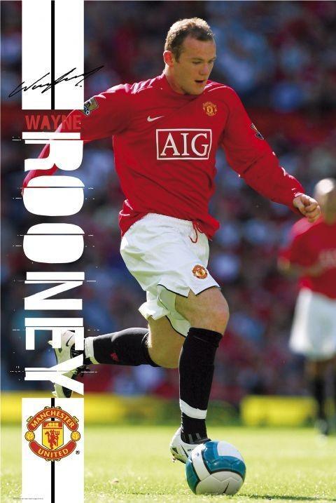 Plagát Manchester United rooney 07/08