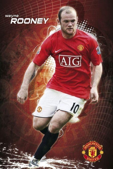 Plagát Manchester United - Rooney 08/09