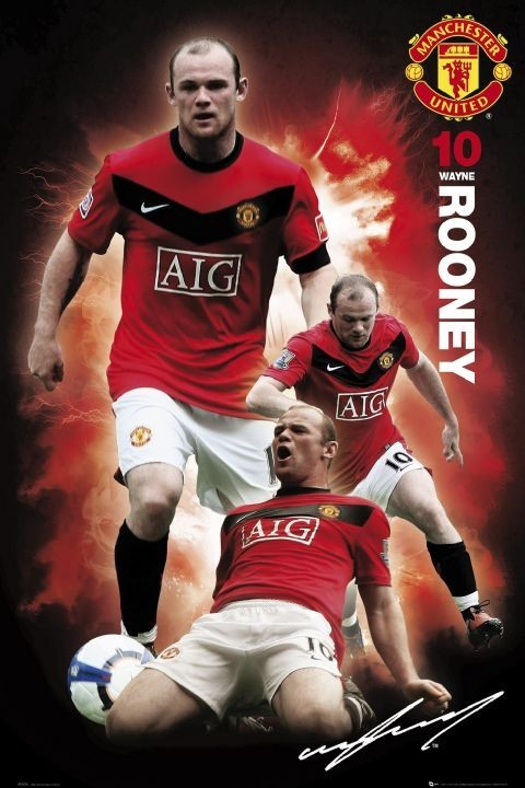 Plagát Manchester United - rooney 09/10