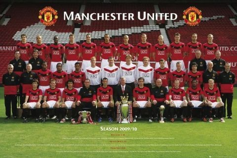 Plagát Manchester United - Team photo 2009/2010