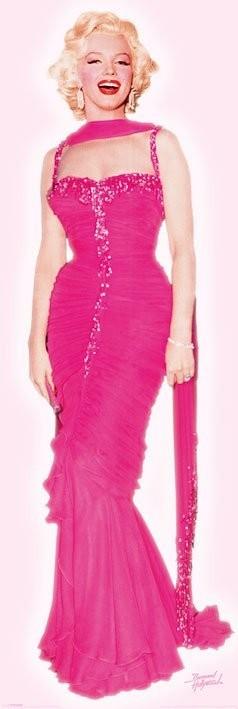 Plagát MARILYN MONROE - pink dress