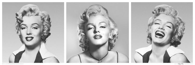 Plagát Marilyn Monroe - triptych