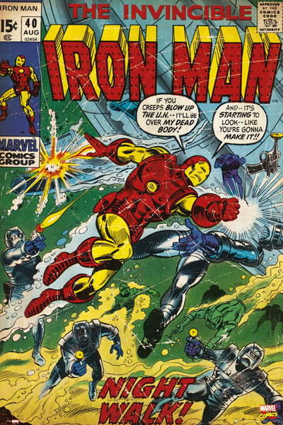 Plagát MARVEL - iron man comic