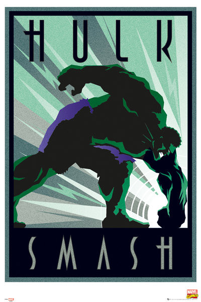 Plagát Marvel - Retro Hulk