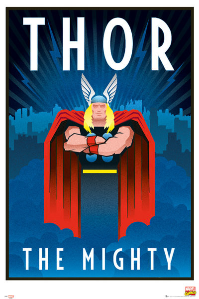 Plagát Marvel - Retro Thor