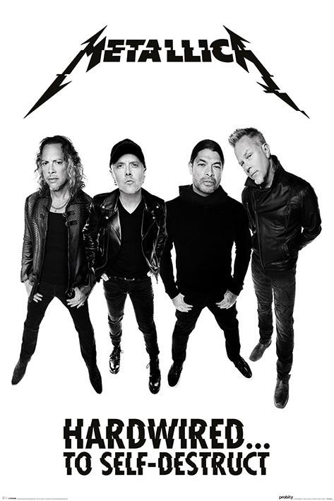 Plagát  Metallica - Hardwired Band