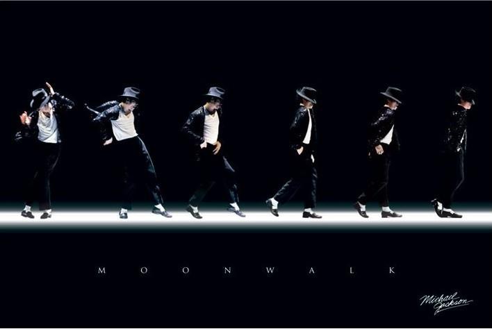 Plagát Michael Jackson - moonwalk