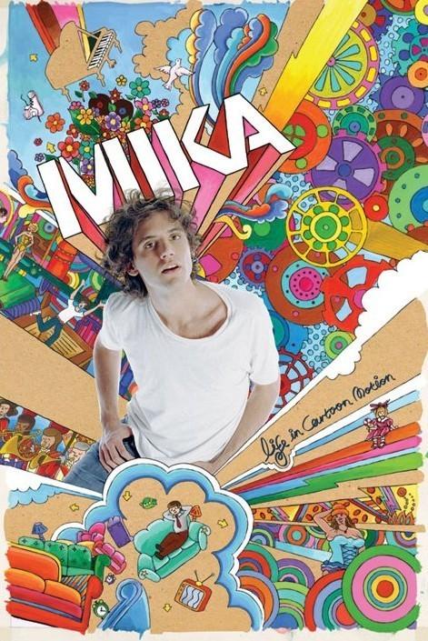 Plagát Mika - life in cartoon motion