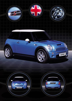 Plagát Mini coopers