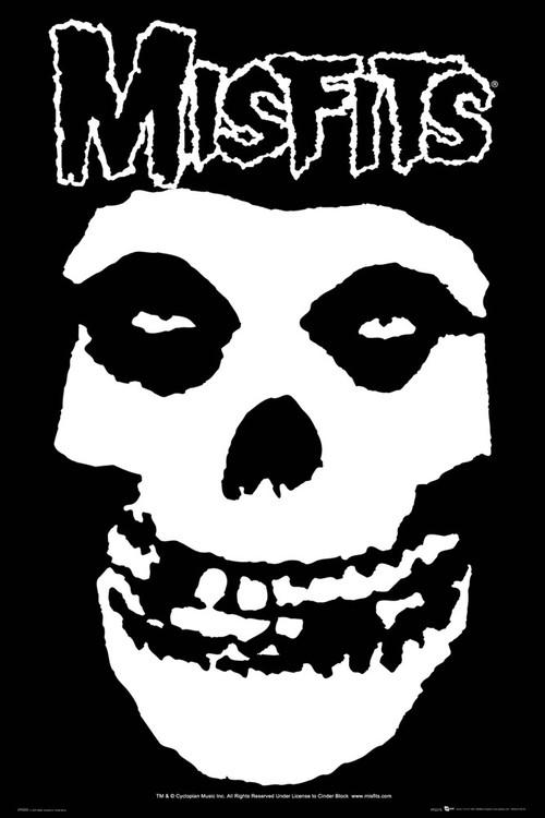 Plagát Misfits - skull