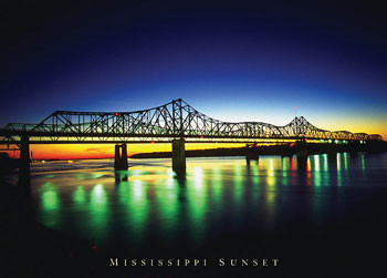 Plagát Mississippi Sunset