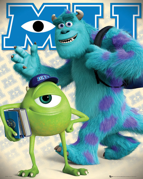 Plagát MONSTERS UNIVERSITY - mike &sulley
