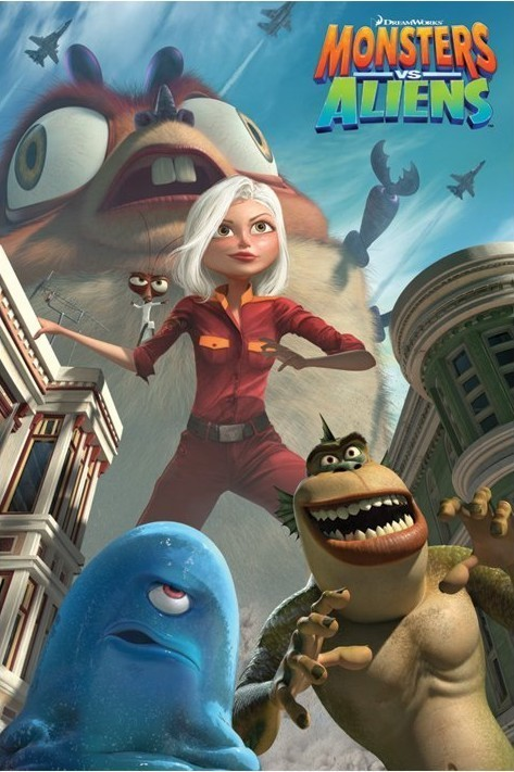 Plagát MONSTERS vs. ALIENS - movie poster