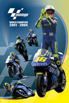 Plagát Moto GP - Rossi - champion