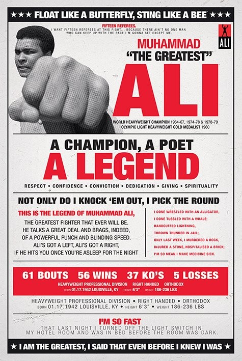 Plagát Muhammad Ali - vintage corbis
